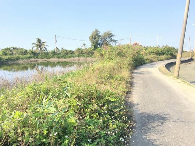 井仔腳鹽田旁漁塭,台南市北門區舊埕段